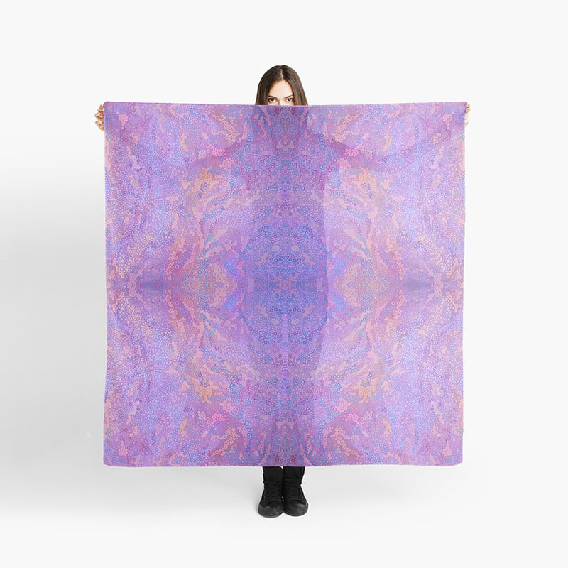 Purple fashion scarf